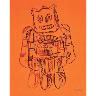 ''Robot (Orange)'' by Andy Warhol Museum Art Print (20 x 16 in.)