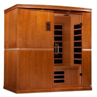 Dynamic Grande Madrid Edition 4 Person Low EMF Infrared Wood Sauna DYN-6410-01 - White - N/A