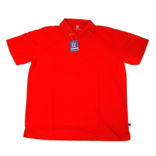 PGA TOUR Men's Polo Shirt - Red Solid - 2X Large