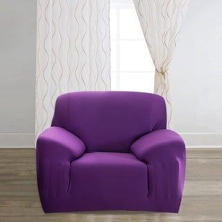 Unique Bargains Polyester Stretch Purple Slipcover