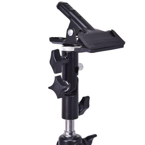 Costway Photography Studio Reflector & Background Metal Clamp Clip Holder Screw Swivel