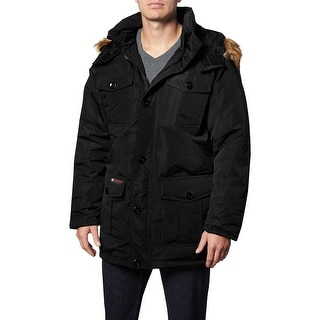 Link to Canada Weather Gear Parka Coat for Men-Insulated Winter Jacket w/ Faux Fur Hood Similar Items in Women's Outerwear