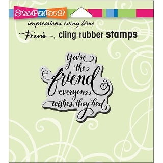 "Stampendous Cling Stamp 4.75""X4.5""-Everyone Wishes"