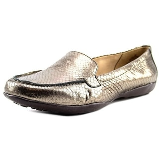 Easy Spirit e360 Jeyden Women  Moc Toe Leather Bronze Loafer