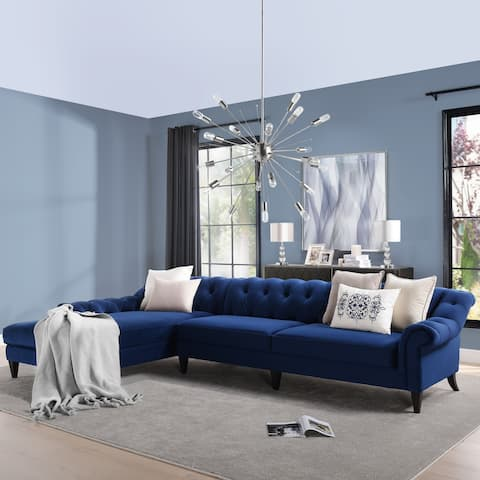 Gracewood Hollow Samkange Tufted Sectional Sofa