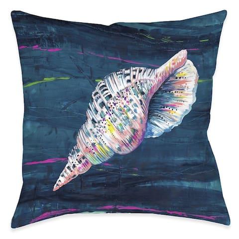 Deep Seashell Outdoor Pillow
