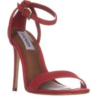 Steve Madden Lacey Ankle Strap Sandals, Red