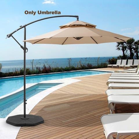 10-foot Double Top Patio Cantilever Umbrella
