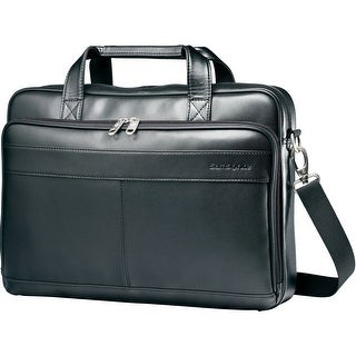 Samsonite Leather Slim Briefcase, Black