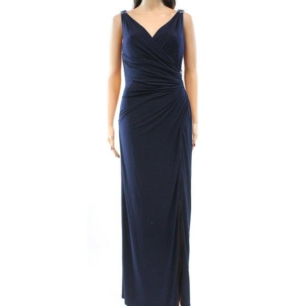Lauren Ralph Lauren NEW Blue Women\'s Size 18 Ruched Ball Gown Dress ...