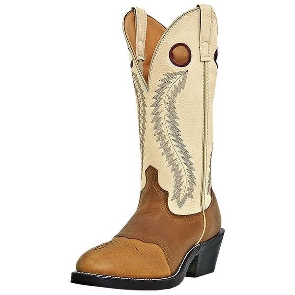 Laredo Western Boots Mens Knoxville Buckaroo Leather Tan Cream