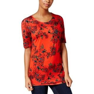 Kensie Womens T-Shirt Lightweight Printed