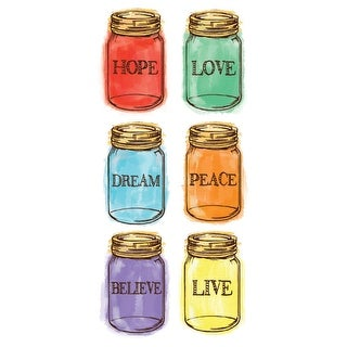 Club Pack of 120 Jars Ensemble 12 Packs of Swankie Hanky Pocket Tissues Hope, Love, Dream, Peace, Believe, Live