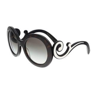 Prada PR 08TS 2AU0A7 Havana Round Minimal Baroque Sunglasses - 55-22-135