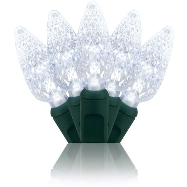 Wintergreen Lighting 20292 70 Bulb C6 Cool White LED Christmas Lights - Cool White - N/A