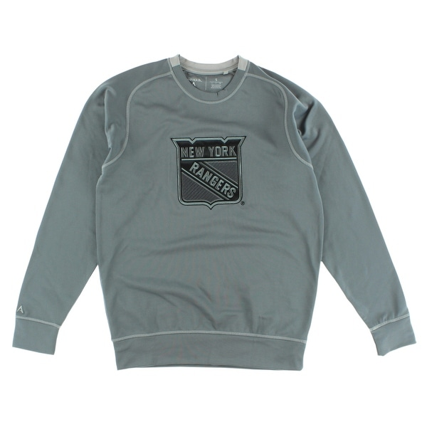 finest selection b70ac 91eb9 Antigua Mens New York Rangers NHL Carbon Crew Sweatshirt Grey - Charcoal