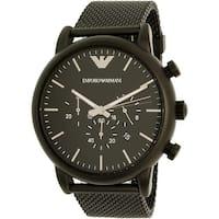 Emporio Armani Men's Luigi  Black Stainless-Steel Plated Dress Watch