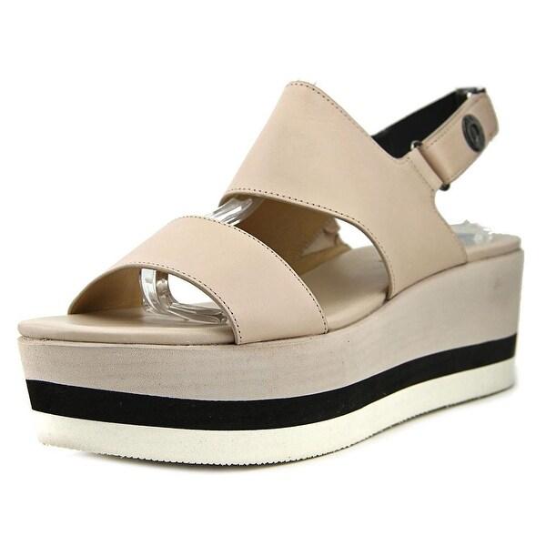 Via Spiga Neza Women Open-Toe Leather Nude Slingback Sandal