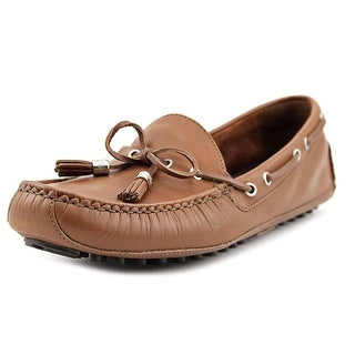 Cole Haan Grant Driver Women Moc Toe Leather Brown Loafer