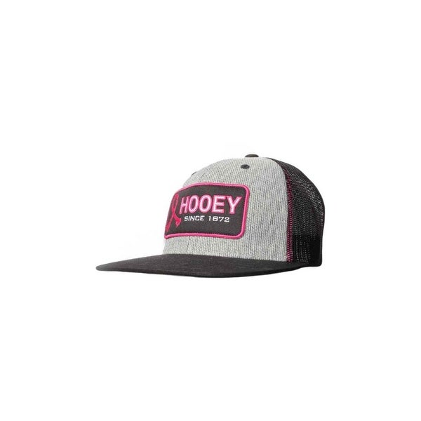 HOOey Hat Mens Tough Enough Mesh Back Mid Profile O/S Gray 1717T-GYBK