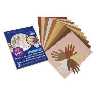 Pacon Multi-Purpose Multi-Cultural Construction Paper, 9 x 12 Inches, Assorted Color, Pack of 50