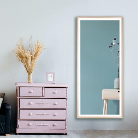 LED Full Length Lighted Mirror,Wall Mounted Hanging,Dimmable Lights