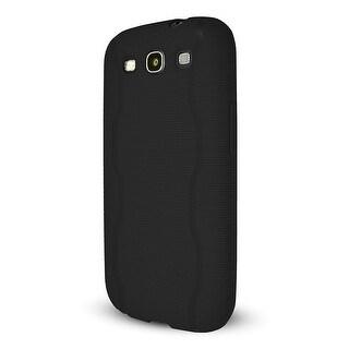 Technocel Textured Slider Skin with Line Pattern for Samsung Galaxy S3 - Black