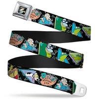Rocko & Spunky Pose Full Color Black Rocko'S Modern Life Character Seatbelt Belt