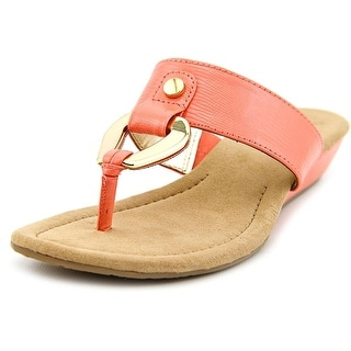 Alfani Womens FORRAY Split Toe Casual T-Strap Sandals