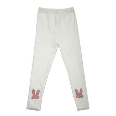 TG2630 Girl's Cotton Trousers Spring Autumn Pants Warm and Soft White