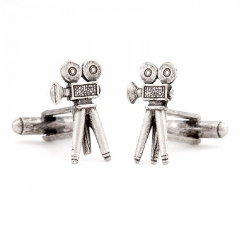 Old School Movie Camera Film Hollywood Movie Studios Cufflinks