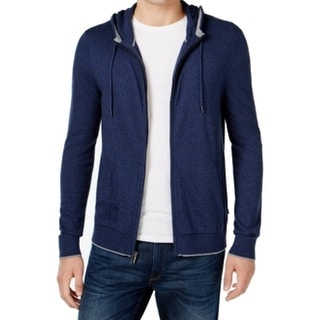 Michael Kors NEW Blue Mens Size Large L Full-Zip Hooded Jacket