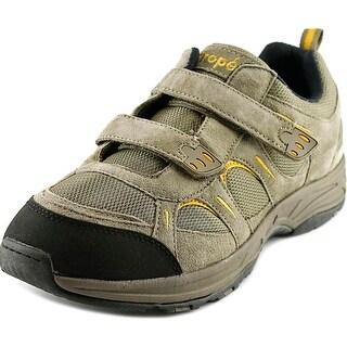 Propet Miranda Strap Women 4E Round Toe Leather Gray Sneakers