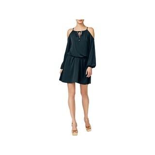 MICHAEL Michael Kors Womens Casual Dress Cold-Shoulder Mini