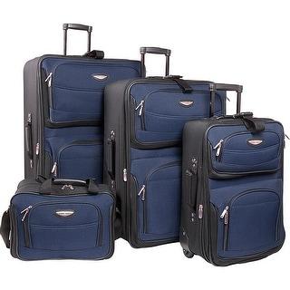Traveler's Choice Amsterdam 4-Piece Luggage Set - Navy
