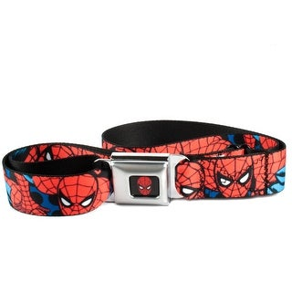 Buckle Down Kids' and Teens' Marvel Spiderman Seatbelt Buckle Belt - Red - One Size