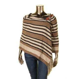 Polo Ralph Lauren Womens Wrap Sweater Silk Fringe