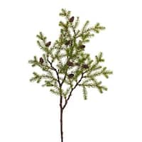 """Club Pack of 12 Leafy Green and Brown Decorative Artificial Christmas Pine Sprays 28.5"""""""