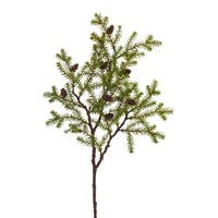 Club Pack of 12 Leafy Green and Brown Decorative Artificial Christmas Pine Sprays 28.5""