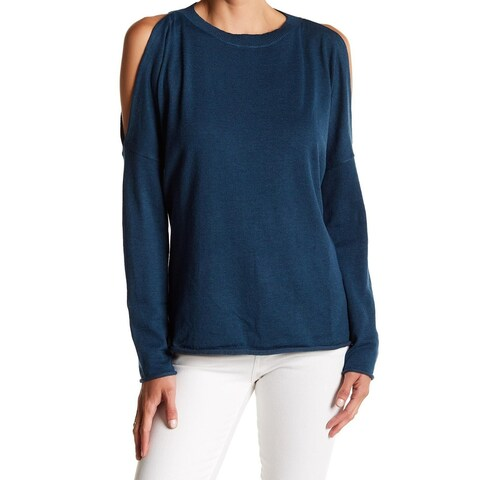 John + Jenn Womens Large Cold Shoulder Pullover Sweater