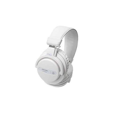 Audio-Technica Professional Closed-Back Dynamic Over-Ear DJ Monitor Headphones, White