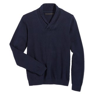 Sean John NEW Blue Navy Mens Size Medium M Shawl-Collar Knit Sweater