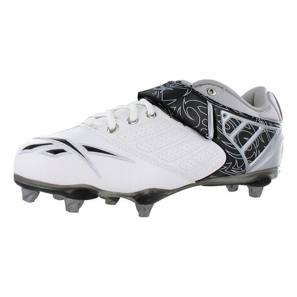 Reebok Bulldodge Low Sd2 Lc Mens Football Shoes White/black/silver - 7.5 d(m) us