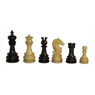 Black & Natural Lotus Chessmen - Multicolored
