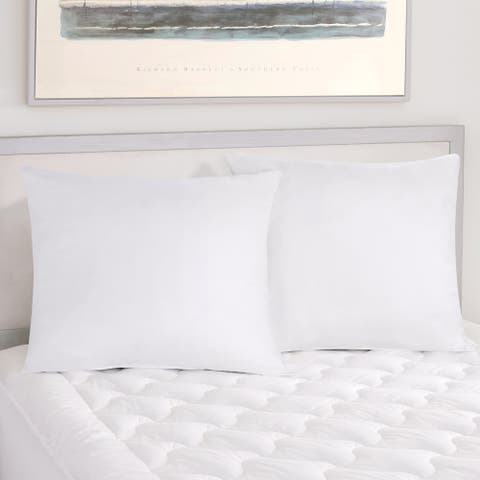 Five Queens Court Excellence Sham Insert Euro Pillow 2 Pack - White