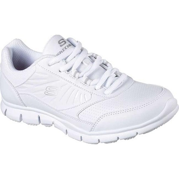 2e3d4b86c92a Shop Skechers Women s Work Nabroc Slip Resistant Sneaker White ...