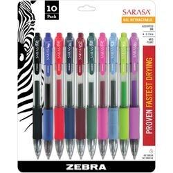 Assorted - Sarasa Retractable Rdi Gel Pen .7Mm 10/Pkg
