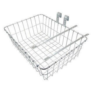 Wald #139 Large Front Bicycle Basket - Silver