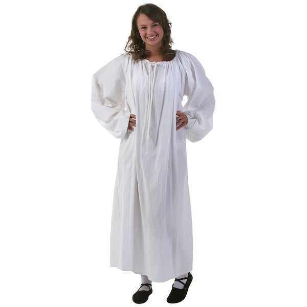 fcc970280 Shop White Renaissance Chemise - Free Shipping On Orders Over  45 -  Overstock - 13052435