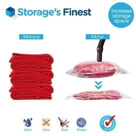 "Storage's Finest 5 x Jumbo Vacuum Storage Bags Space Saver Seal (35"" x 47.6"")"